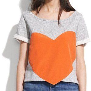Madewell Laugh Cry Repeat Heart Sweatshirt
